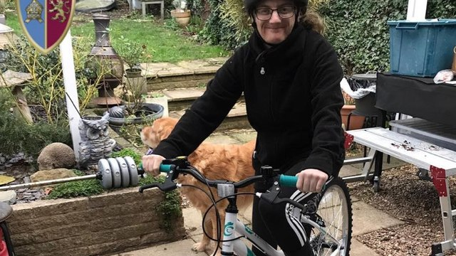 Kerry's cycle-ride for Mencap