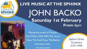 Live Music at the Sphinx John Backo