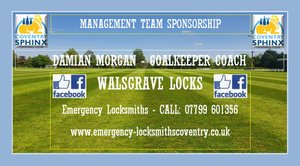 Walsgrave Locks continue as sponsors