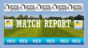 Match report 30.09.2020 Worcester 1-1 Sphinx