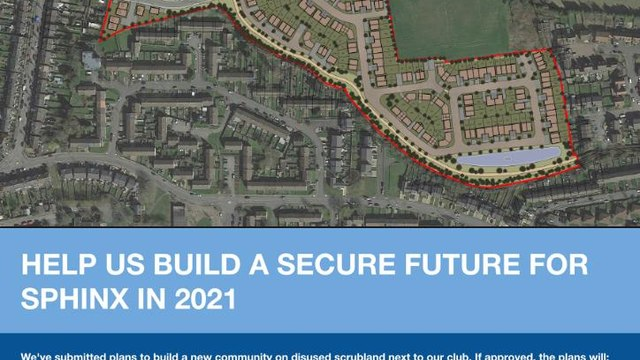 WE NEED YOUR HELP TO BUILD A SECURE FUTURE FOR COVENTRY SPHINX