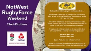 Nat West Rugby Force weekend 22nd & 23rd June