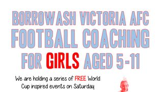 FREE Coaching For Girls Aged 5-11!!!