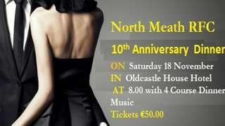 North Meath's 10 Year Anniversary Dinner Dance