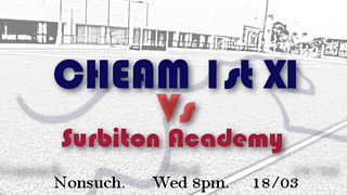 Mens 1st XI Vs Surbiton Academy - we need your support!