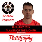 RESERVES PLAYER OF THE MONTH: JANUARY 2019