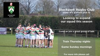 Stockport Under 16's looking for new players