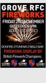 Grove RFC Fireworks Display