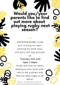 Rugby Open Evening