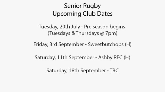 Upcoming Senior Side Events