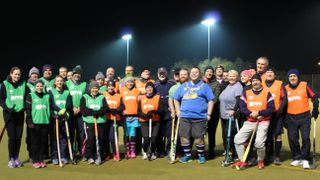 Lord Mayor of Portsmouth joins walking hockey session