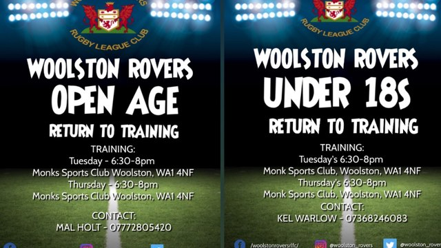 OPEN AGE & UNDER 18s RETURN TO TRAINING
