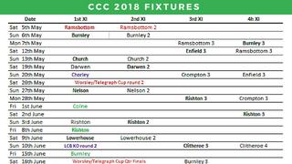 2018 Senior and Junior fixtures - UPDATED