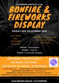 Clitheroe Cricket Club Bonfire & Fireworks Display 2018
