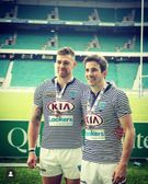 Chris Speed and Chris Crowley represent Wirral at Twickenham