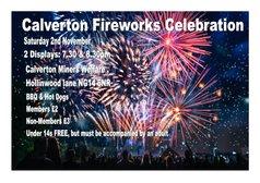 FIREWORKS CELEBRATIONS , Saturday 2nd NOVEMBER