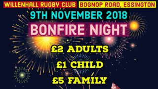 Bonfire Night - 9th November 2018