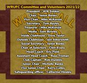 WRUFC AGM committee and volunteers