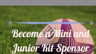 Minis and Junior Kit sponsorship