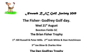 21-08-2019 The Fisher- Godfrey Golf day