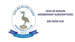 MEMBERSHIP SUBSCRIPTIONS - ARE NOW DUE