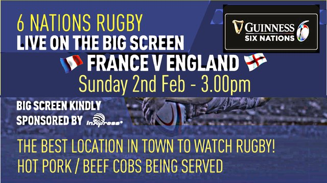 THE SIX NATIONS GAMES ON THE CLUBS SCREENS