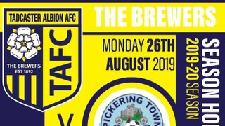 Tomorrow we host  Pickering Town in the North West Division