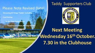 Supporters Meeting 16th October