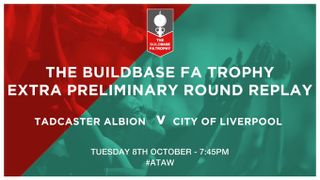 FA Trophy Replay Tuesday 8th October KO 7.45pm