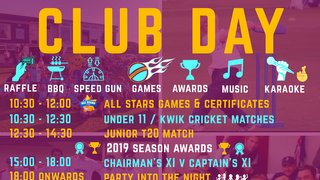 Plenty of Cricket still to play - T20 Finals - Club Day...