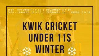 Kwik Cricket/U11s Winter programme