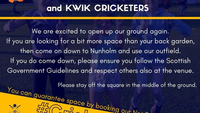 Nunholm invite to the All Stars/Kwik Cricketer Families