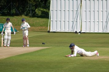 A dive to avoid a run out