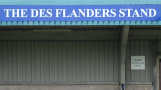 Long standing chairman Des Flanders gets the recognition his dedication to MPFC it deserves