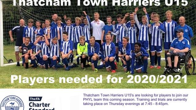 Players needed U15
