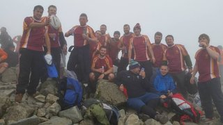 MRUFC Scafell Walk raise £2040 for Baby Sian's Headstone