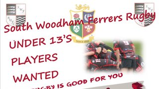 U13's New players wanted.