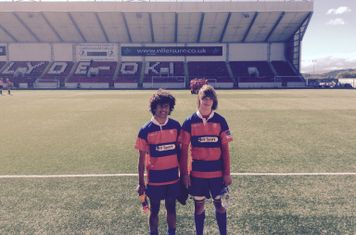 The boys post match .. U16 Caledonia