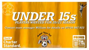 U15s PLAYERS WANTED!