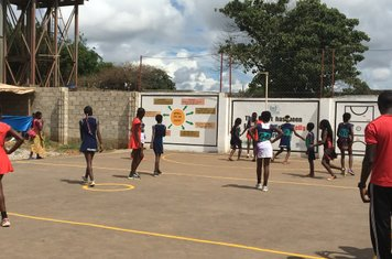 All credit to England Netball. Our kit that we donated to the Netball Development Trust is being used in Zambia!