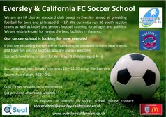 Soccer School looking for new players