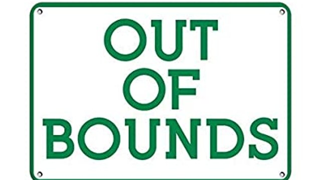CLUB OUT OF BOUNDS TODAY - 3RD APRIL 2020