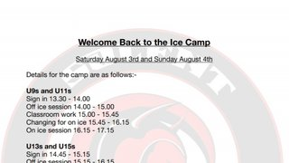 Welcome back to the Ice Camp