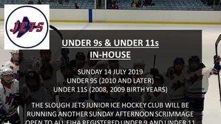 Under 9's & Under 11's scrimmage