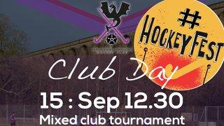 Club day. 15th September