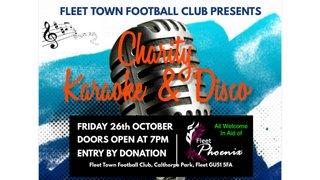 Charity Karaoke & Disco 26/10/18
