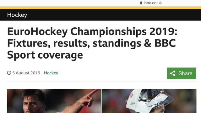 EuroHockey Championships - watch all the home nations on the BBC