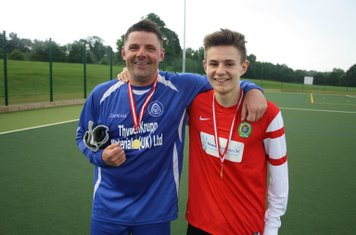 Father and son man of the matches