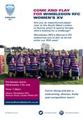Wimbledon RFC Women's XV WANTS YOU!