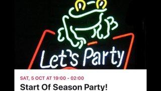 Start of the season party